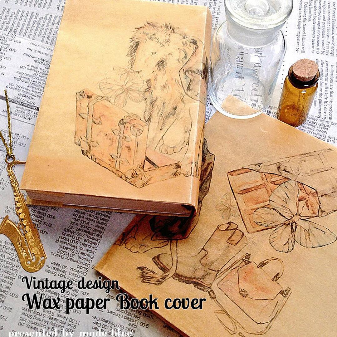 Vintage design Wax paper Book cover