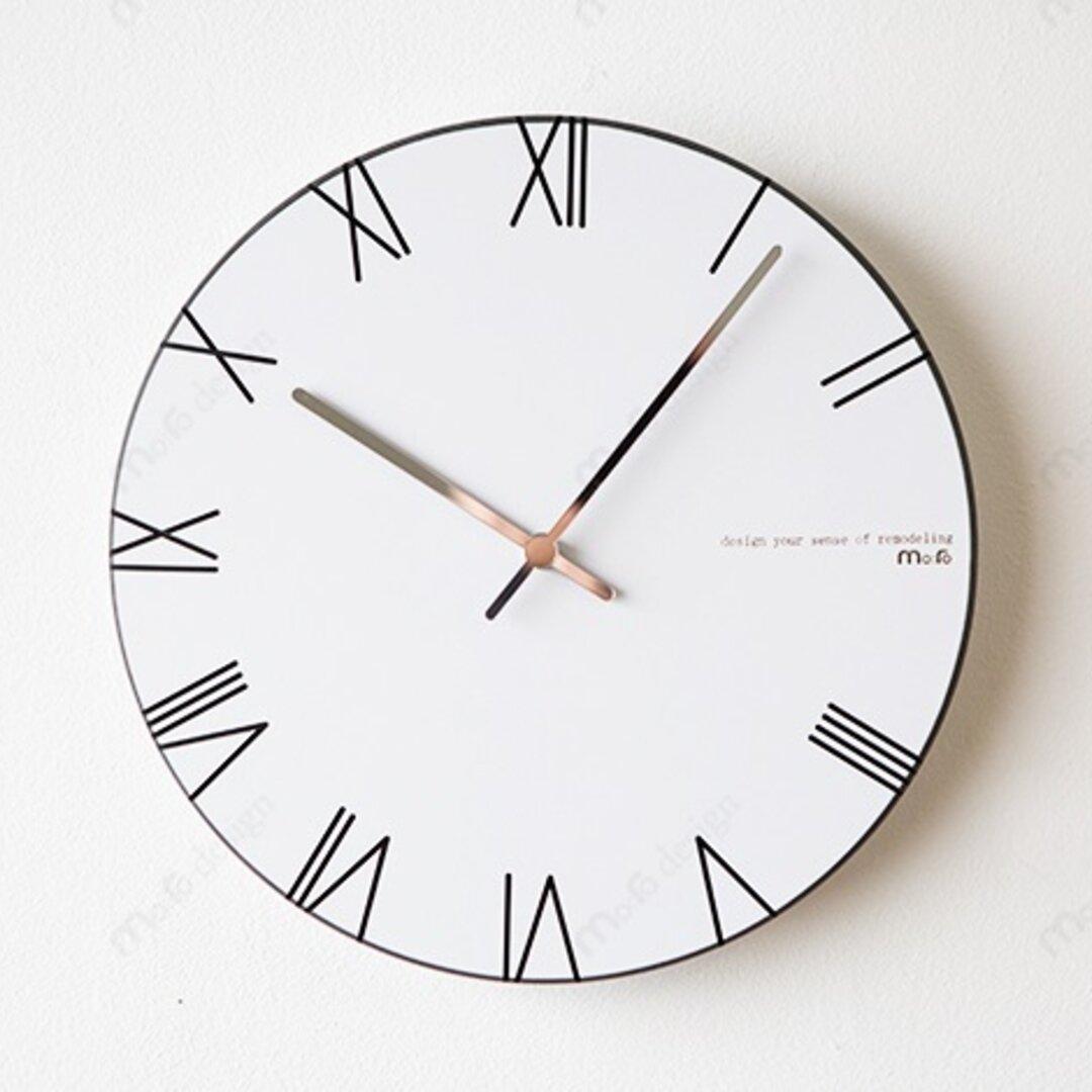 【壁掛け時計 ウォールクロック】 LPM ROMAN - ブラック