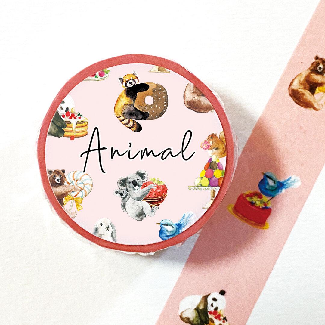 動物のマスキングテープ