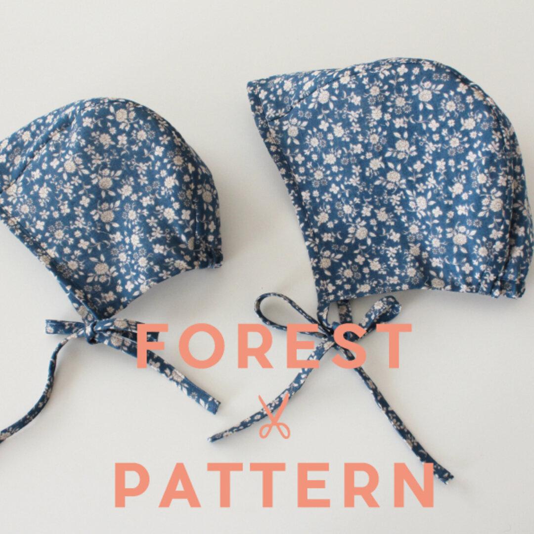 【型紙】BABYボンネット帽子(ツバなし)4sizeセット #BABY-CP2