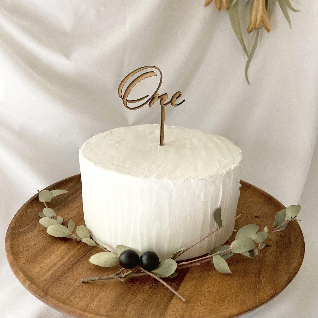 ケーキトッパー ONE 1歳 木製