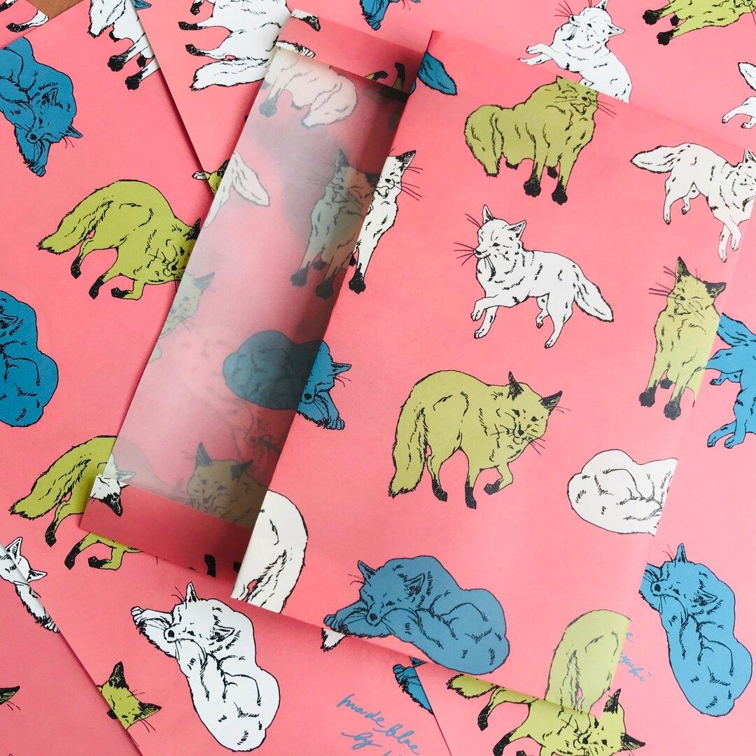 Retro pop Fox -Waxpaper Bookcover