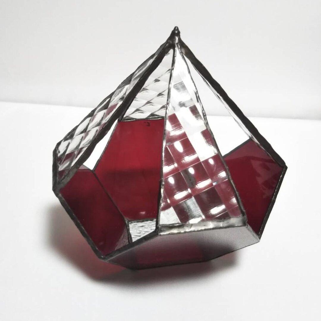 ステンドグラス*テラリウム五角形*観葉植物インテリア*植物のある暮らし