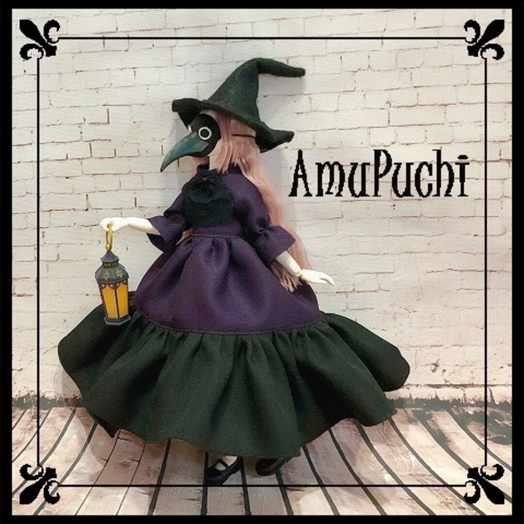赤い宝石の魔女ドレス-dark magic violet-