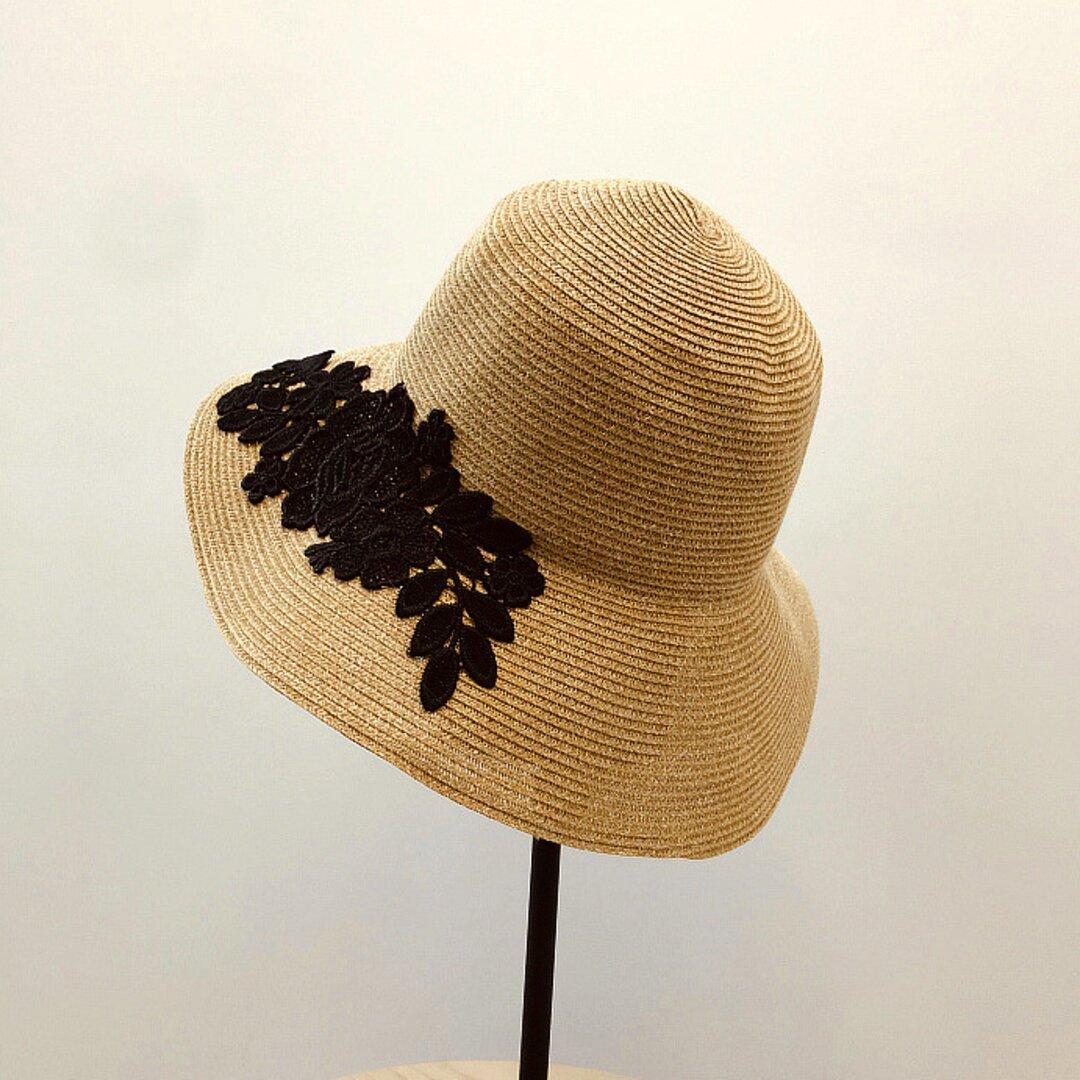 帽子☀夏のお出かけ ハット レディース 日よけ帽子 アウトドア ストローハット ハンドメイド 夏帽子 夏