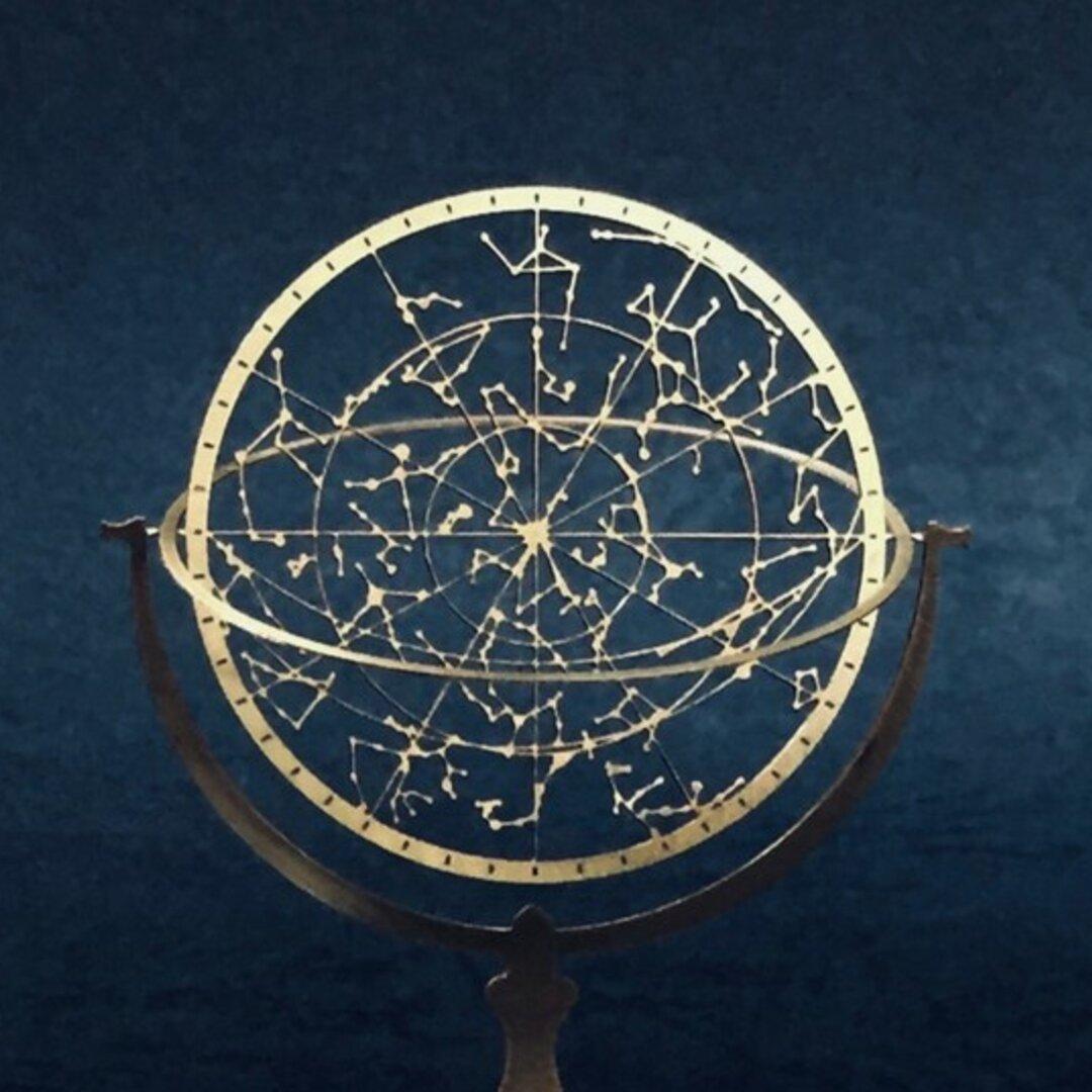 夏の星座の天球儀(全天) -Constellation-
