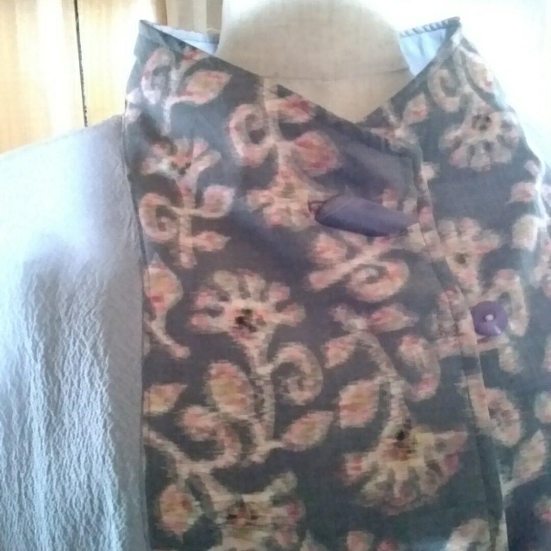 着物リメイク センター切り替えワンピースコート