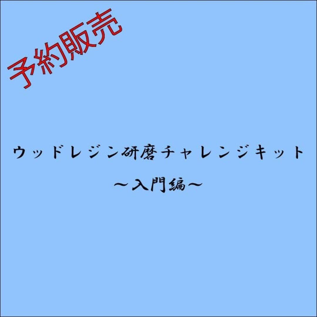 ☆予約販売☆【第7弾ウッドレジン研磨チャレンジキット~入門編~】