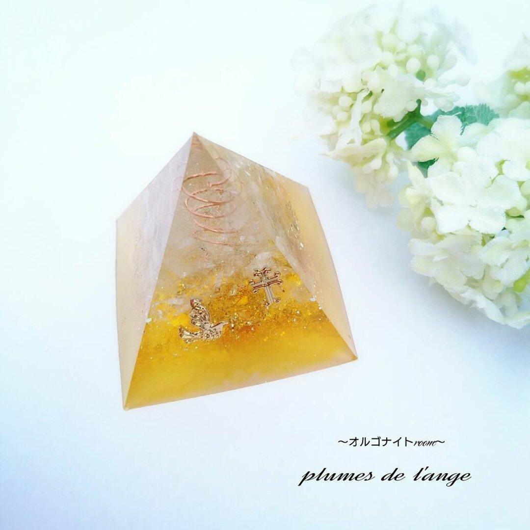 再販☆金運アップ☆六芒星☆幸運鳥☆オルゴナイト☆ピラミッド