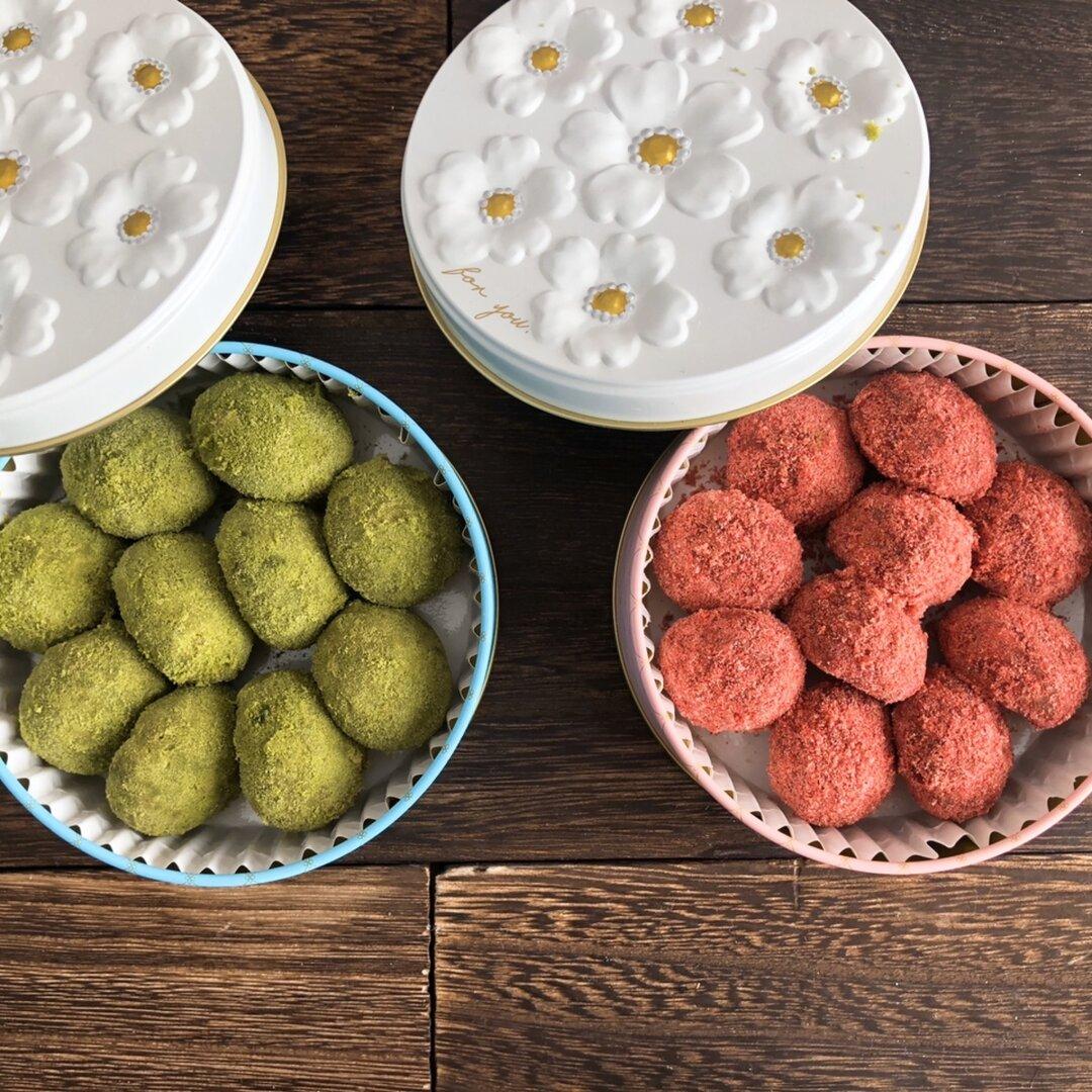 ブールドネージュ缶 ストロベリーショコラ&抹茶 【 クッキー缶 グルテンフリー ビーガン アレルギー対応】