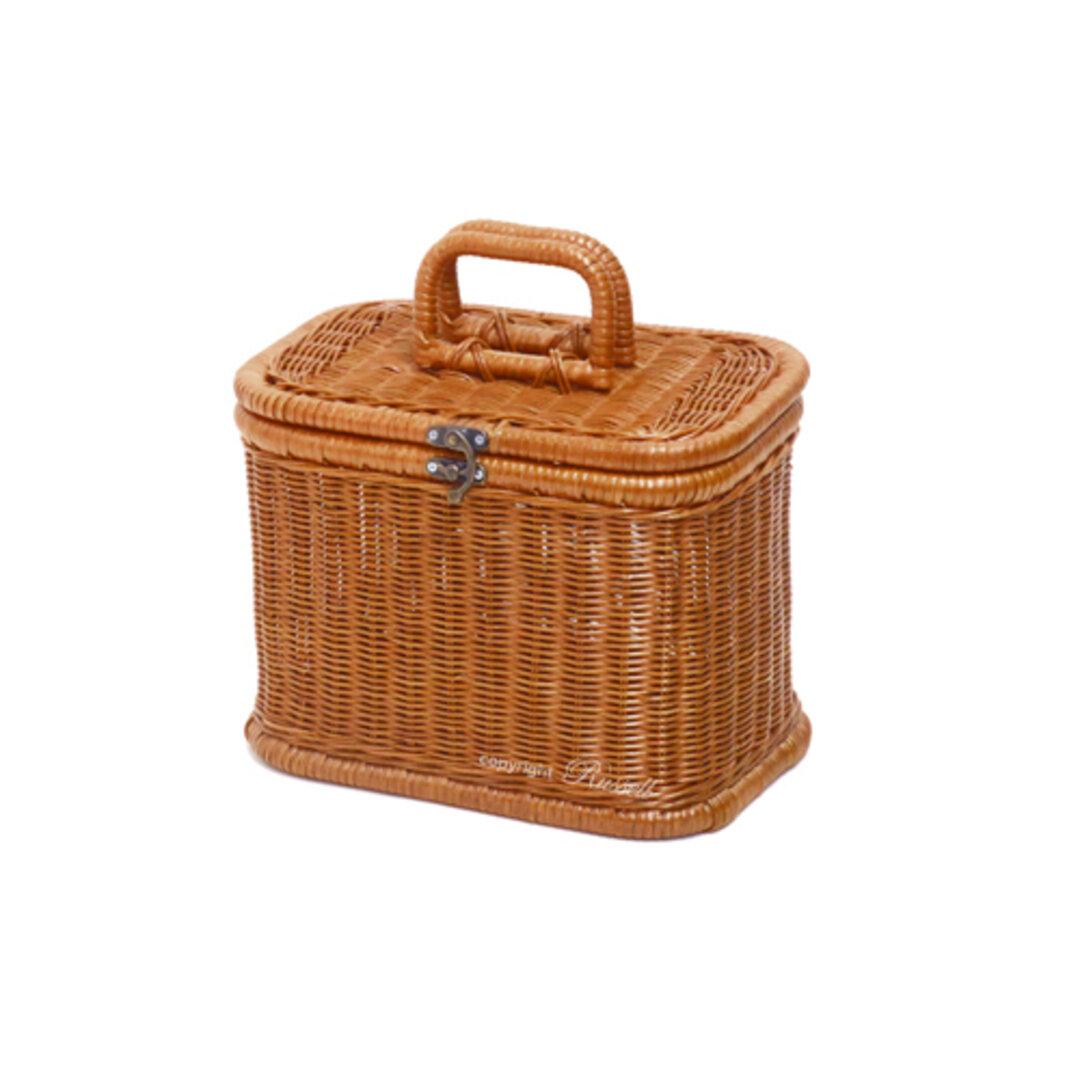 籐バスケット 籐かご ハンドメイド ラタンバスケット 裁縫箱 メイクボックス 690