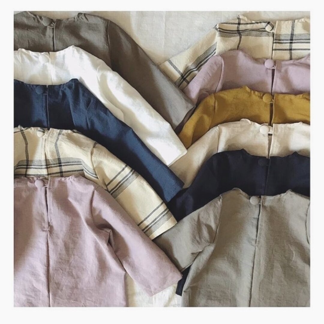 長袖 くったりシンプルブラウス 70〜130