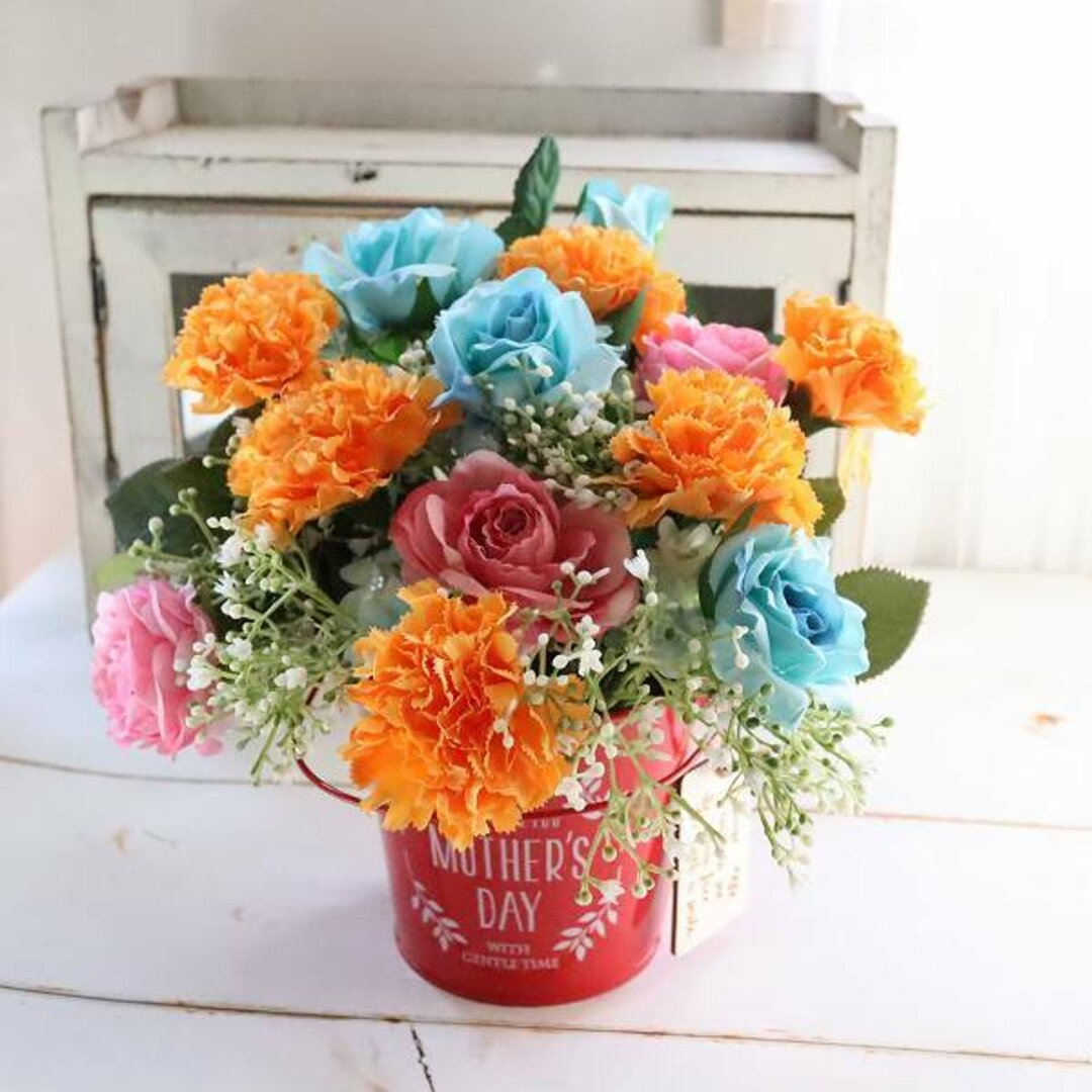 『母の日2021』フラワーアレンジメント 枯れないお花 先方様への直送可 華やかミックス