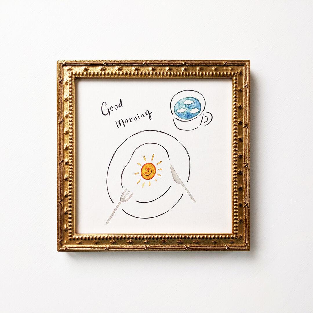 Good morning アートプリント/イラスト複製画 150角