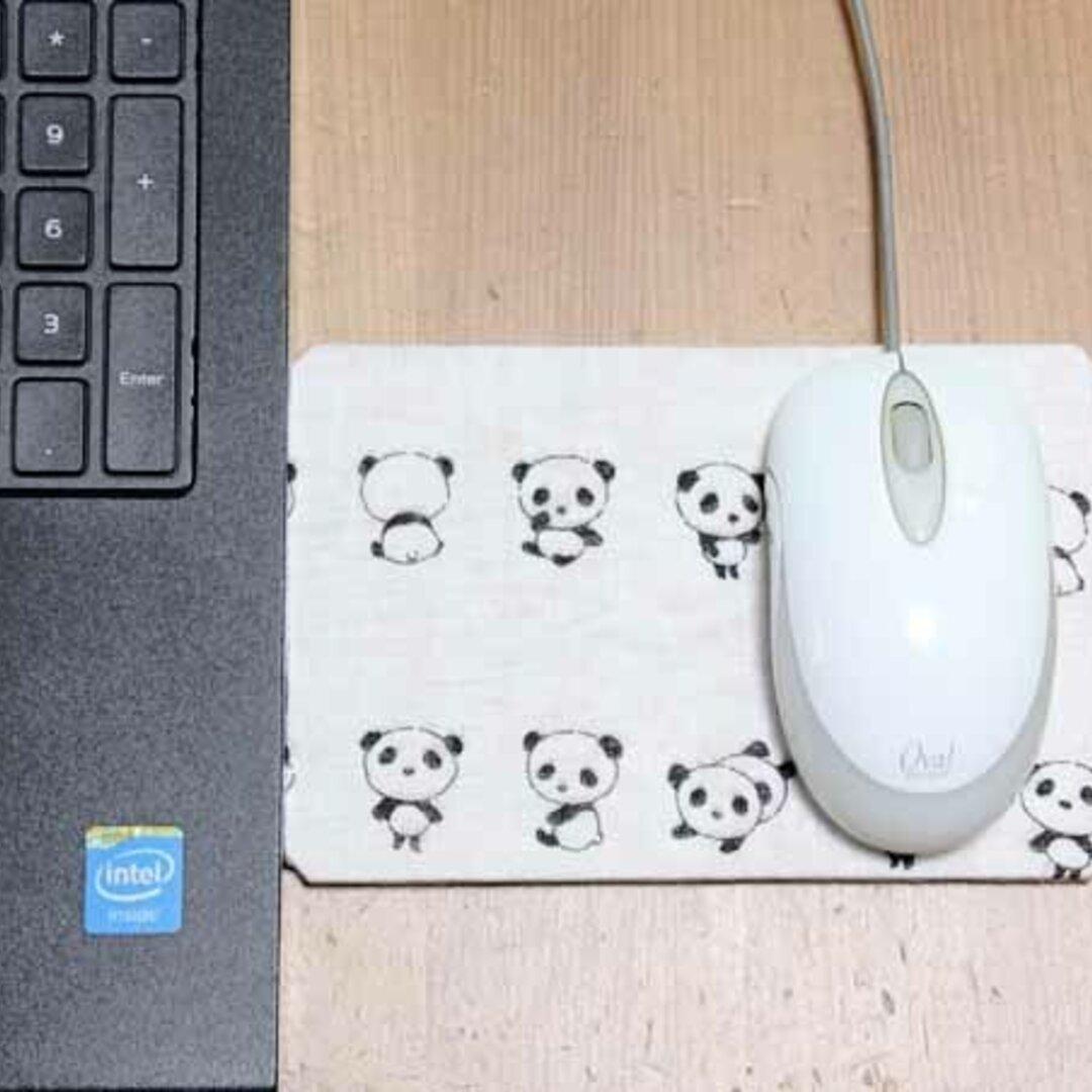 ノートPCの端っこで使うマウスパッド・パンダ!