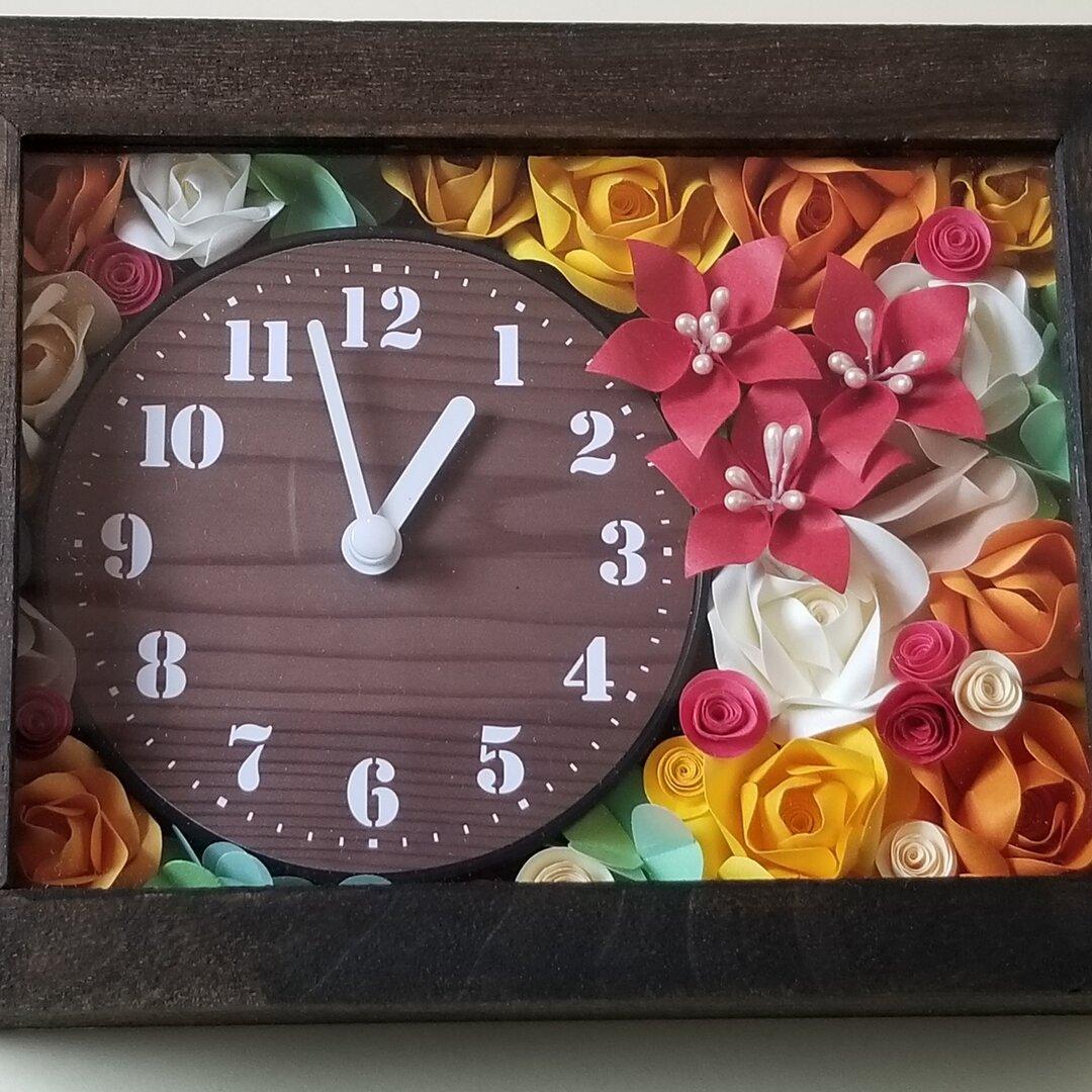 ペーパークイリング花時計