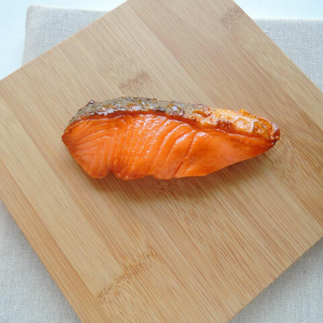 食品サンプル 鮭2 リアルサイズ