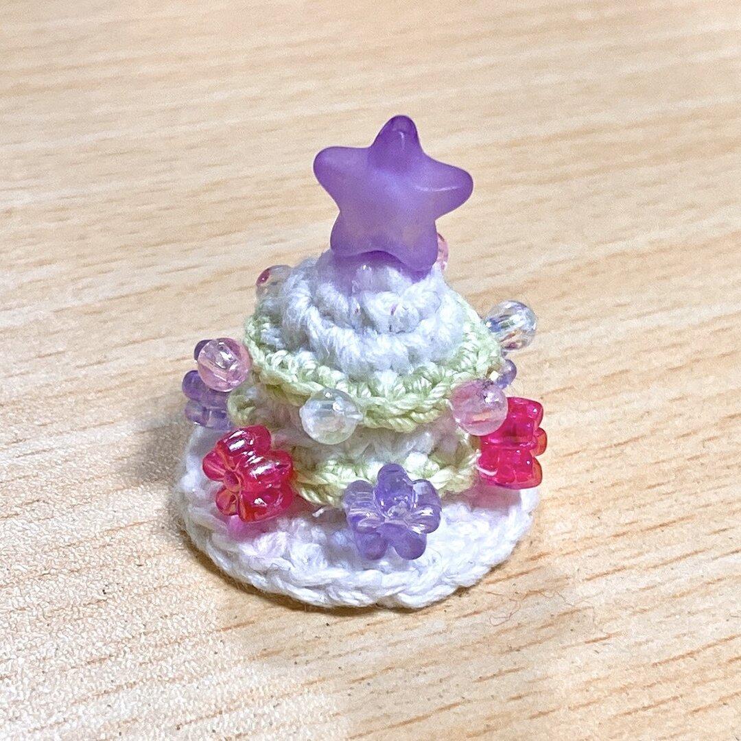 【クリスマス】ツリーホワイト  ハムスター帽子 ミニチュア帽子 小動物