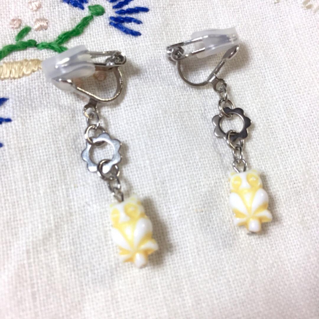 【レトロで可愛い】vintage小さなモモンガのイヤリング(ピアス変更無料)