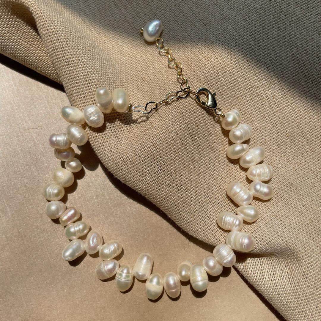 天然真珠バロックパール ブレスレット