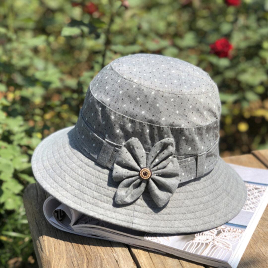 【新作】春夏  コットン 帽子 ナチュラル 敬老の日 ハット UVカット 日差し対策 つば広帽 日よけ