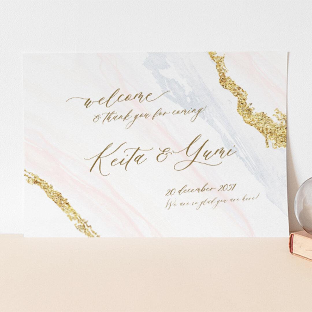 ウェルカムボード 名入れ 結婚式 ポスター印刷 パネル加工OK bord0528