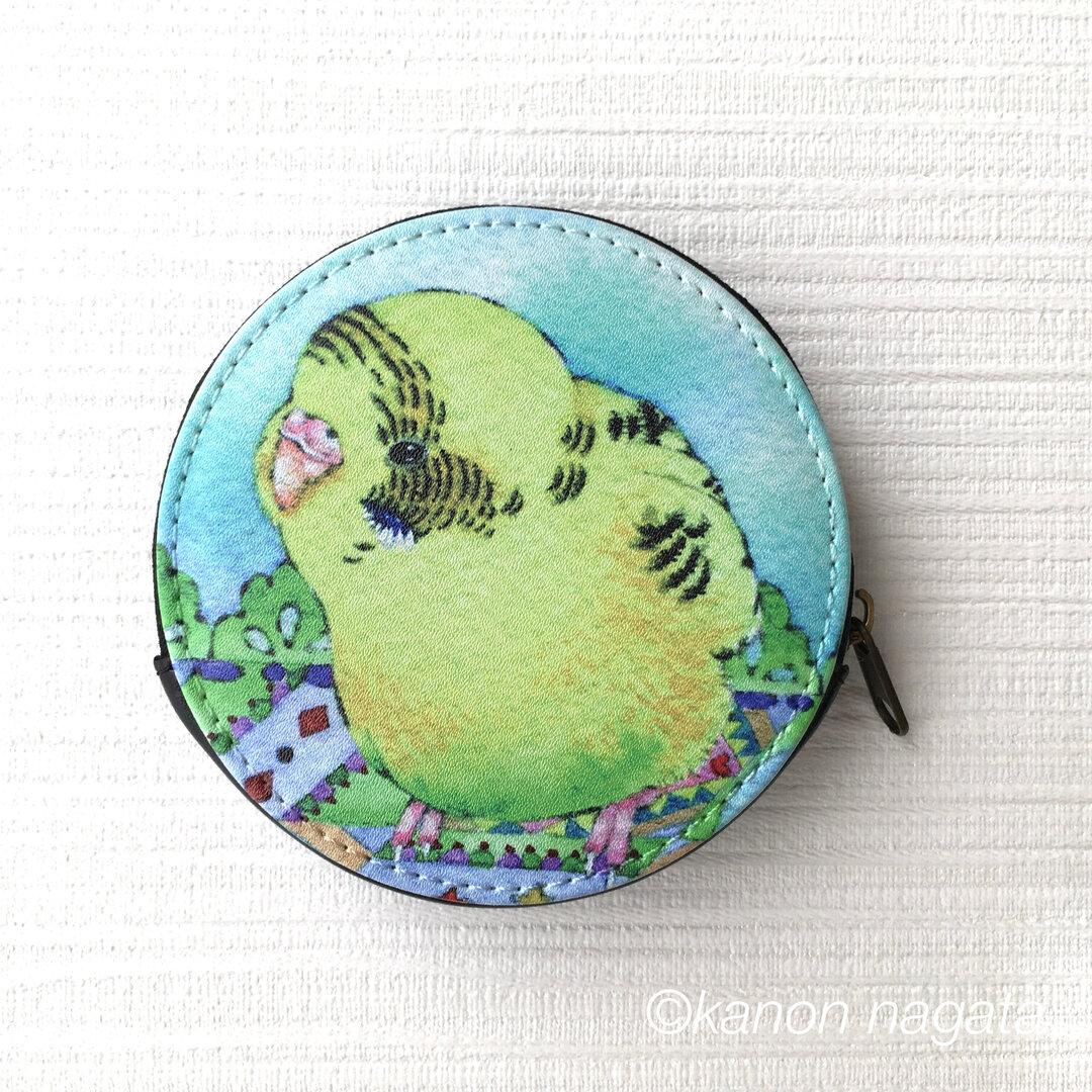 【コインケース】セキセイインコの小銭入れ/財布