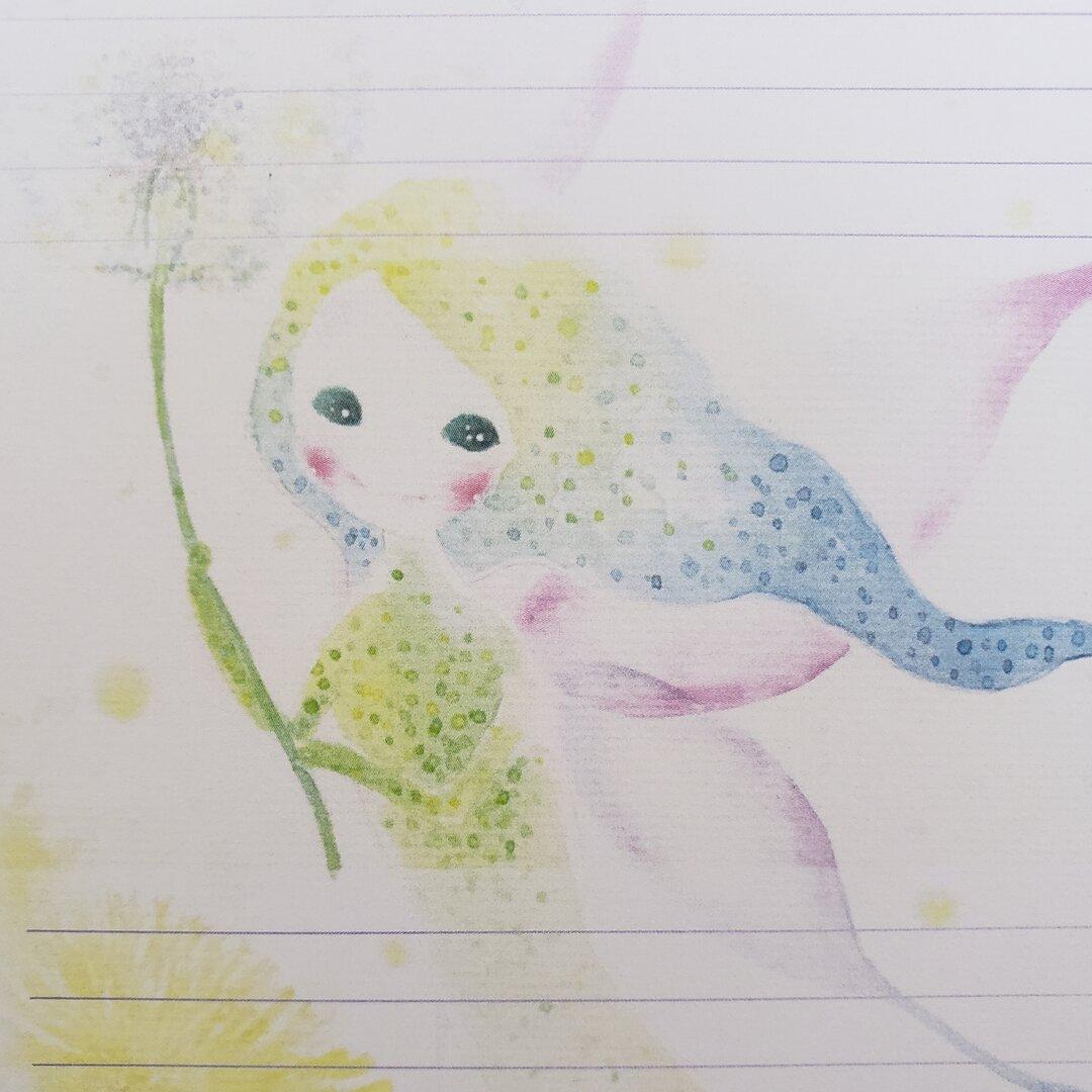 レターセット★タンポポと風の妖精さん