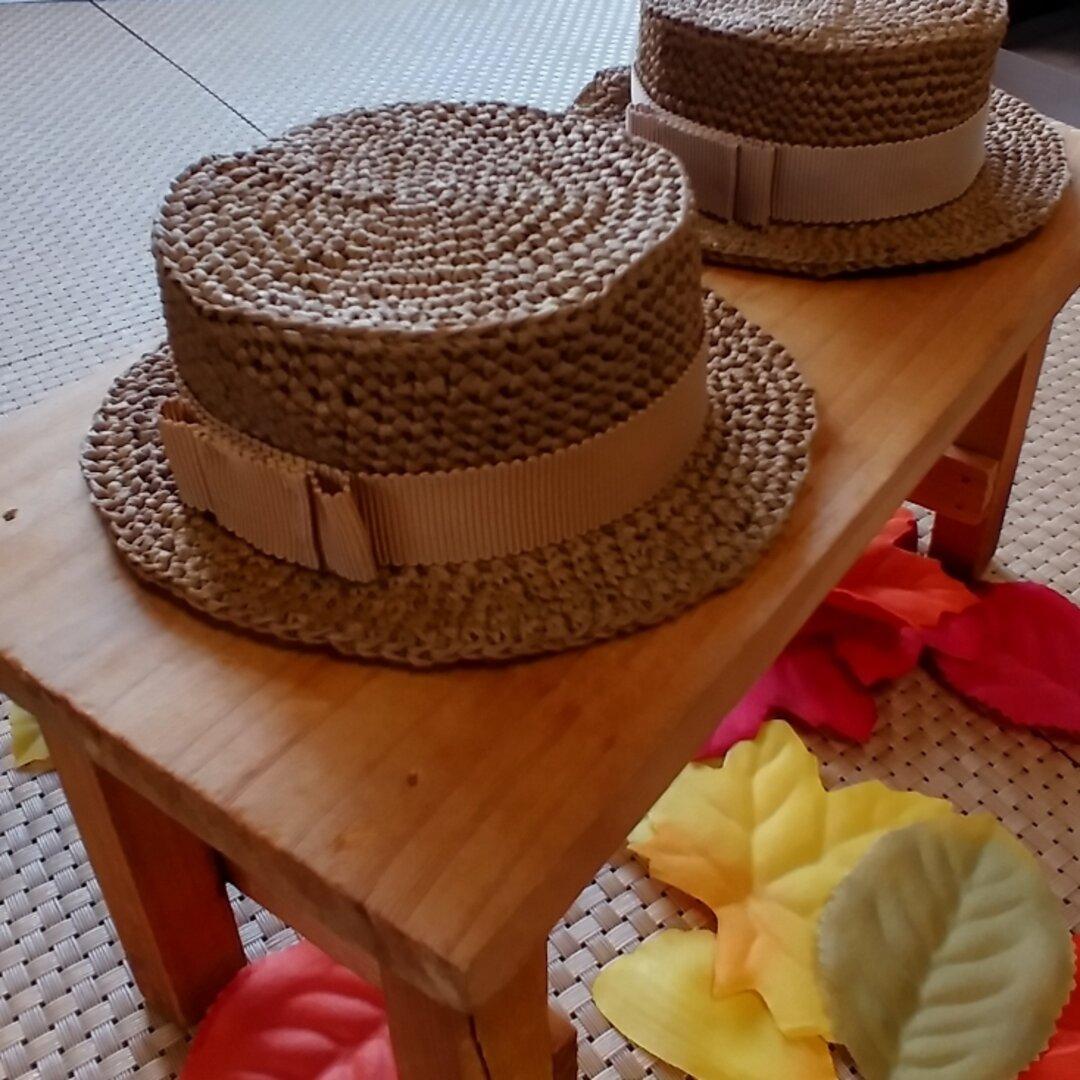 受注製作 秋冬カラー ネオブライス用 カンカン帽子 6パターン  28㎝