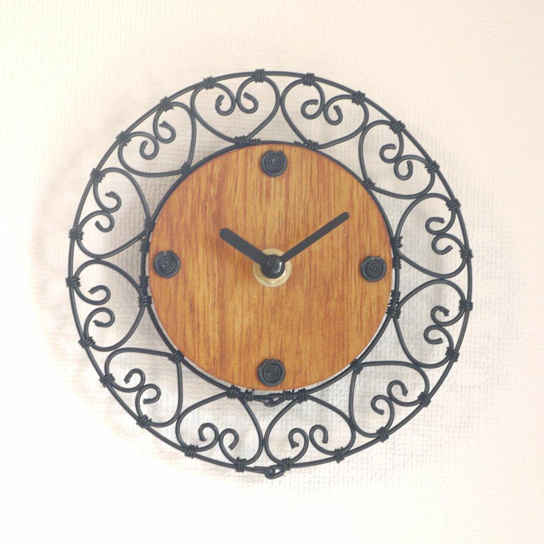 再販 ワイヤークロック03 アンティーク調な掛け時計