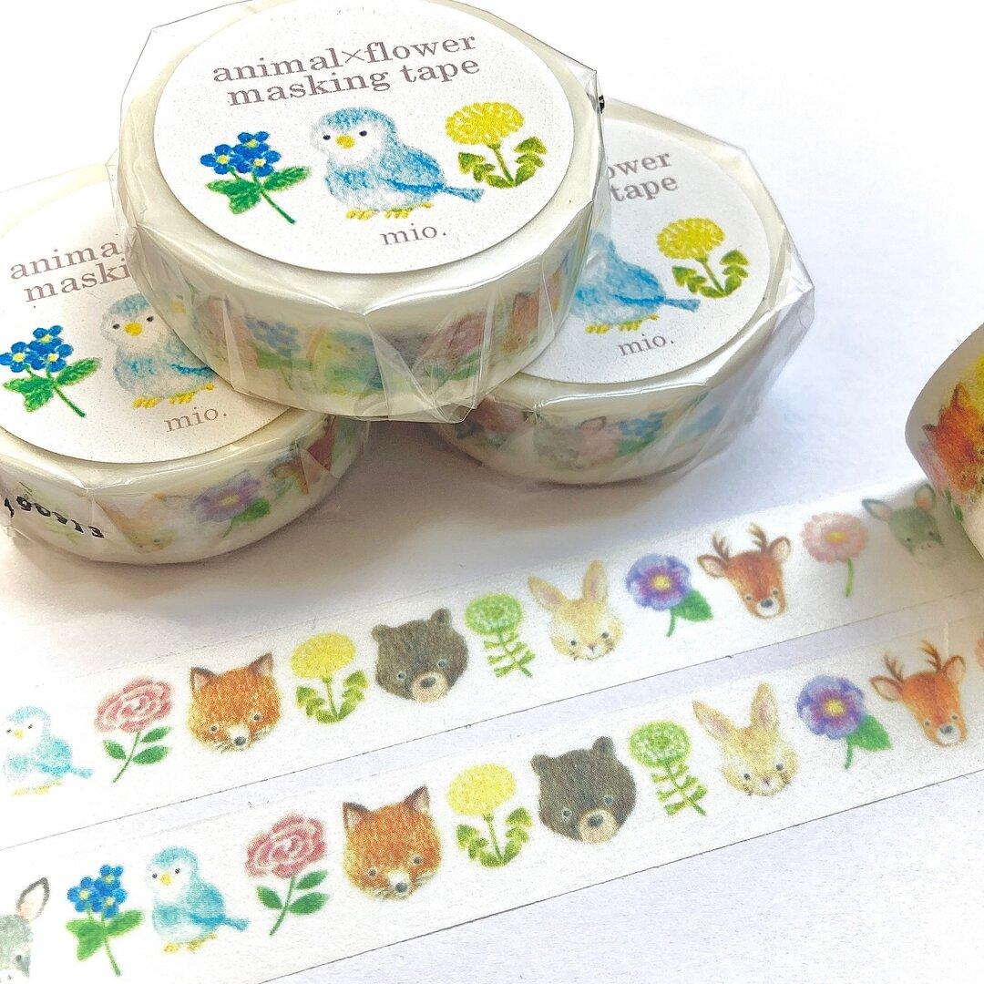 animal×flower masking tape