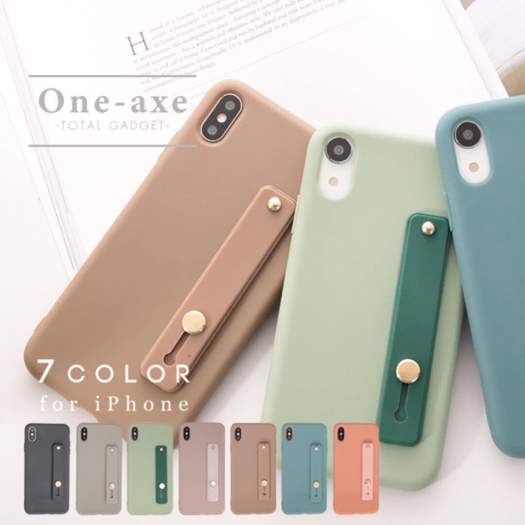 【送料無料】 落下防止ベルト iPhone 12 se 第二世代 se2 11 pro xr カバー ケース くすみカラー かわいい オシャレ シンプル