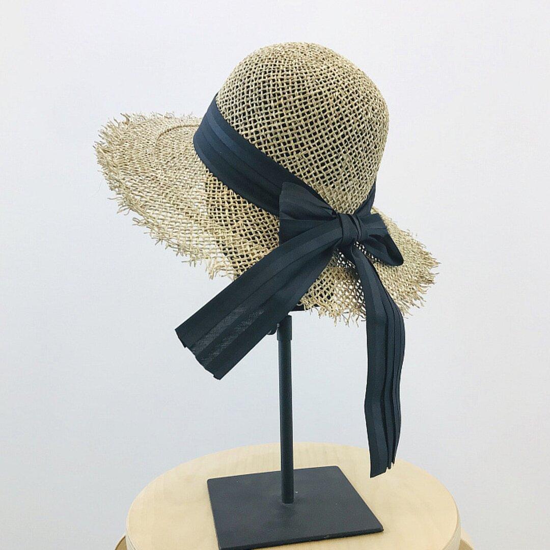 帽子☀ハンドメイド アウトドア 夏のお出かけ レディース ストローハット ハット 日よけ帽子 夏帽子 夏
