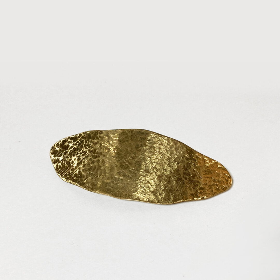 歪な楕円の真鍮バレッタ