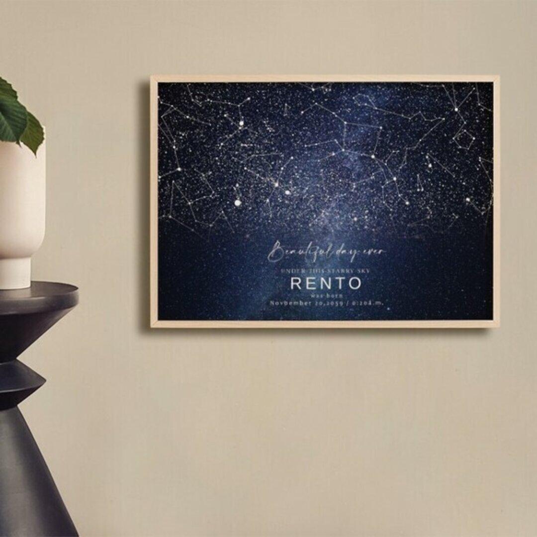 あの日の星空再現 特別な日の星空 スターマップ 記念日 誕生日 出産祝い 結婚 starmap0033