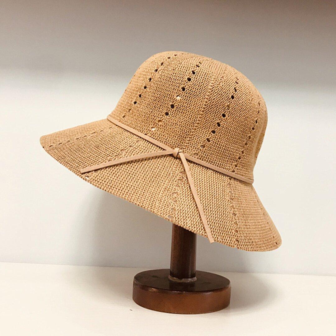 帽子☀日よけ帽子 ハット 夏帽子 アウトドア 夏 夏のお出かけ ストローハット レディース ハンドメイド