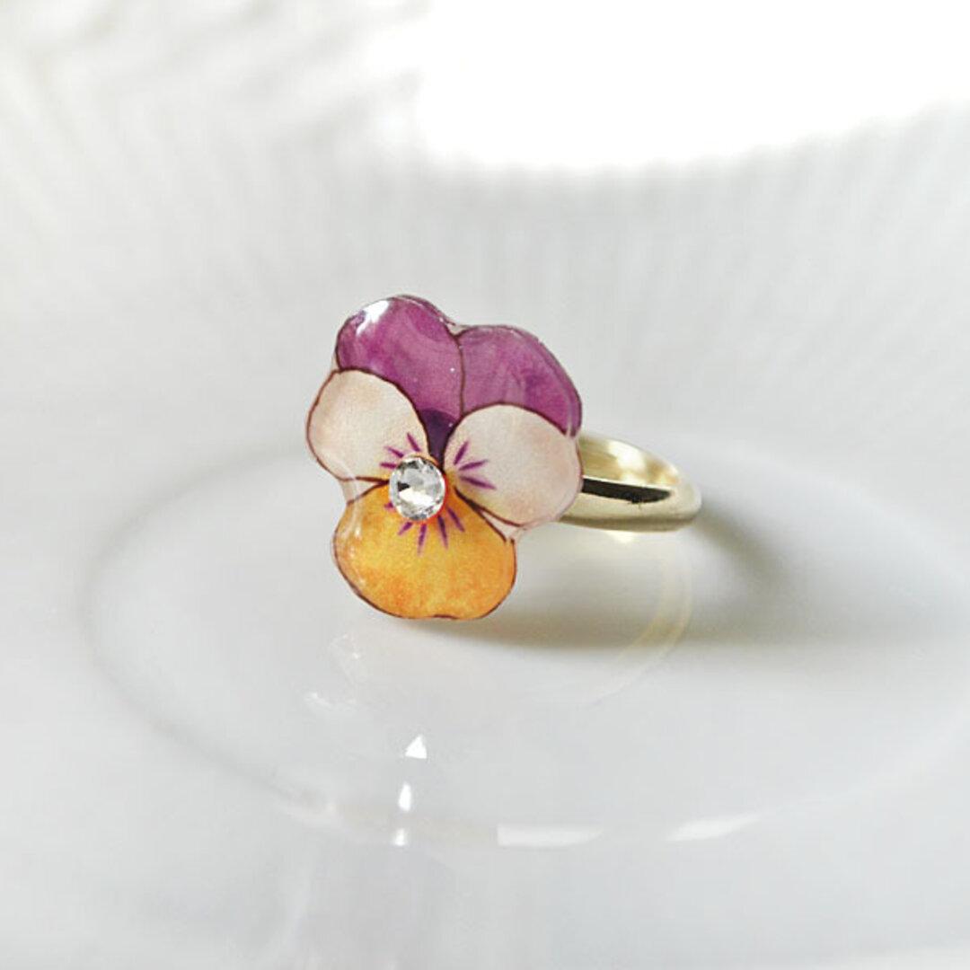 Viola ring ビオラの花リング
