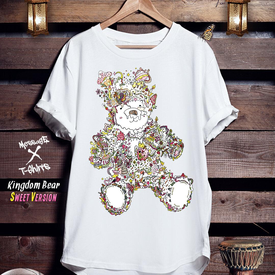 くまイラストTシャツ「Kingdom Bear [SWEETY]」