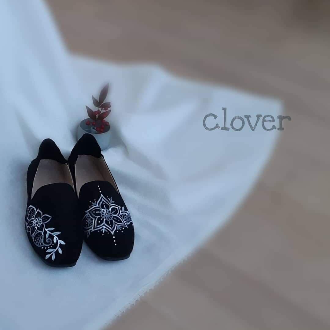 手描きメヘンディデザイン靴