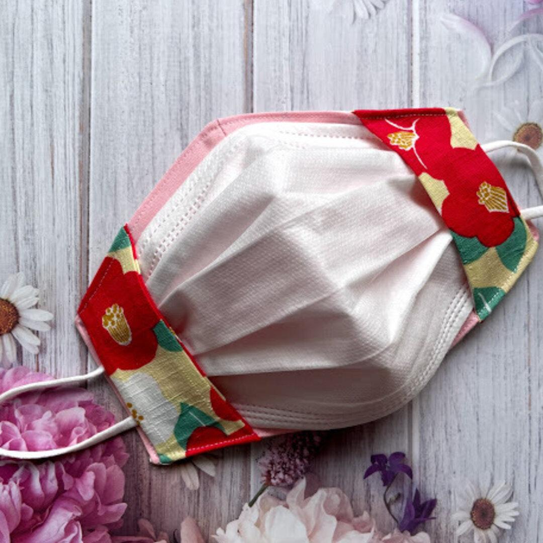 不織布の見えるマスクカバー(和柄)
