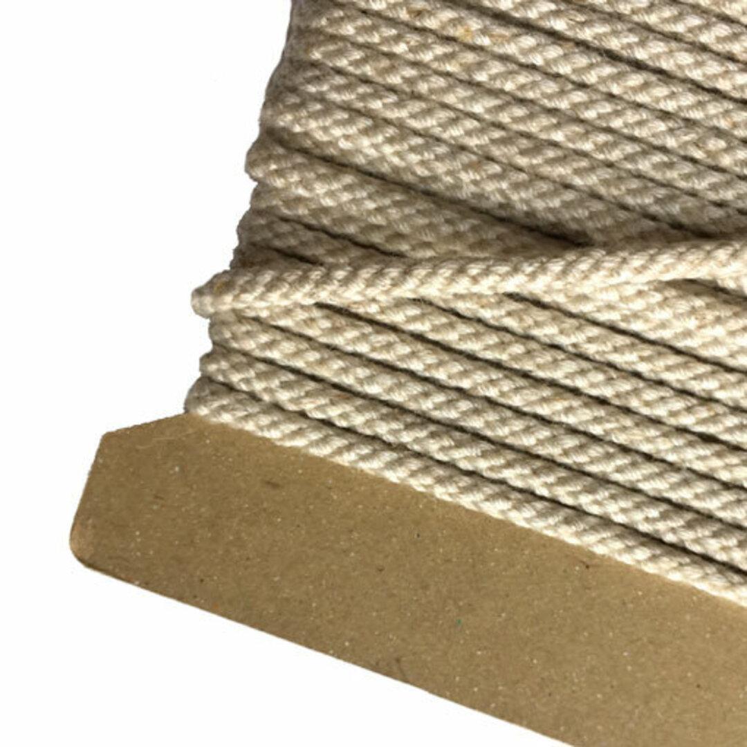 リネン混コード 約直径3mm 生成【5m単位切売り】生成 ロープ 紐*