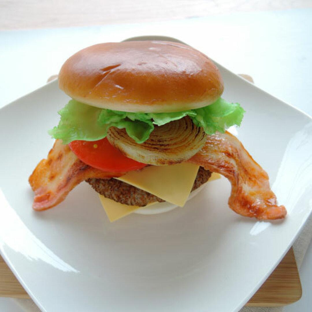 食品サンプル ハンバーガー ベーコン リアルサイズ