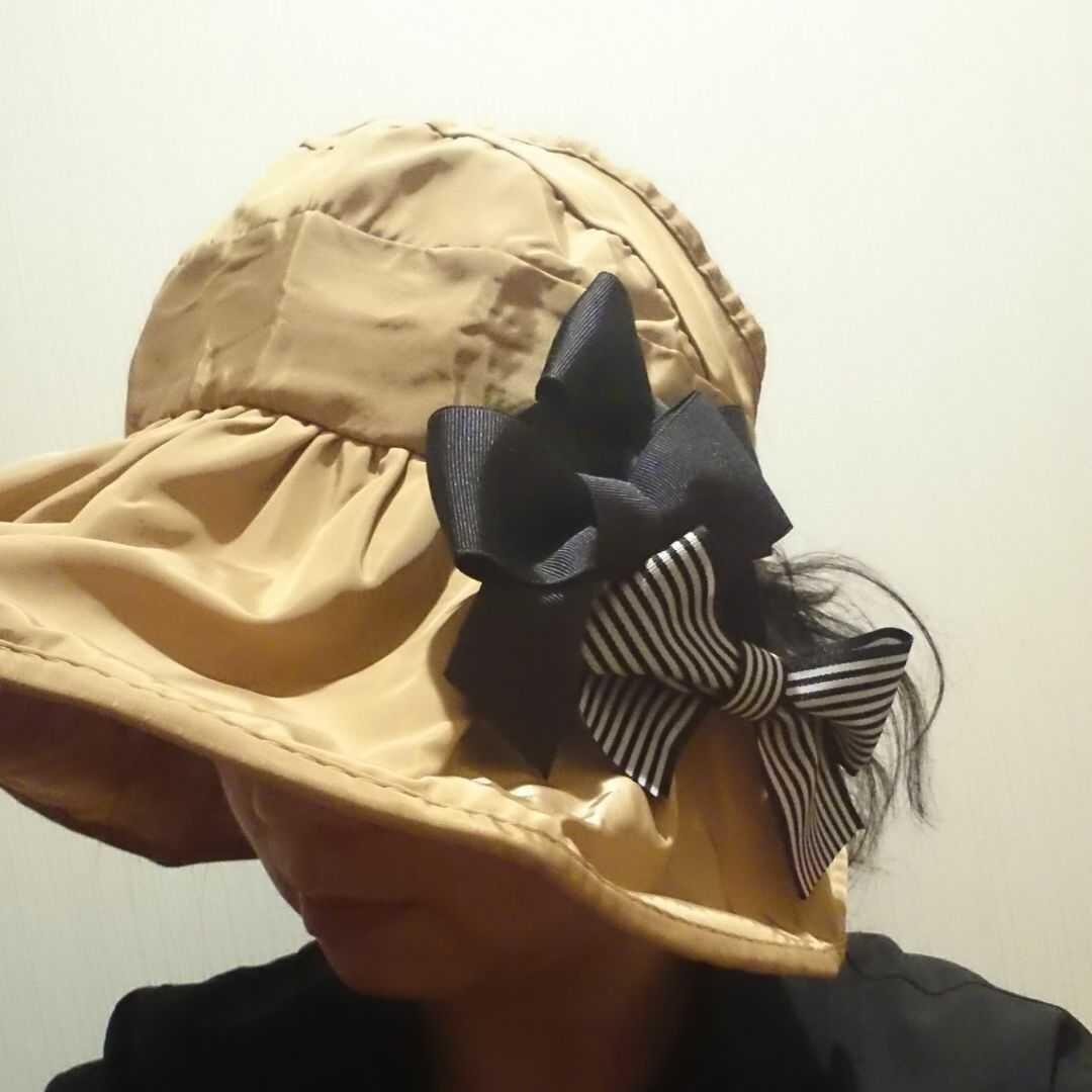 新作!アトリエマザーハンド折り畳みサンバイザー巻きくるくるサンバイザー 帽子