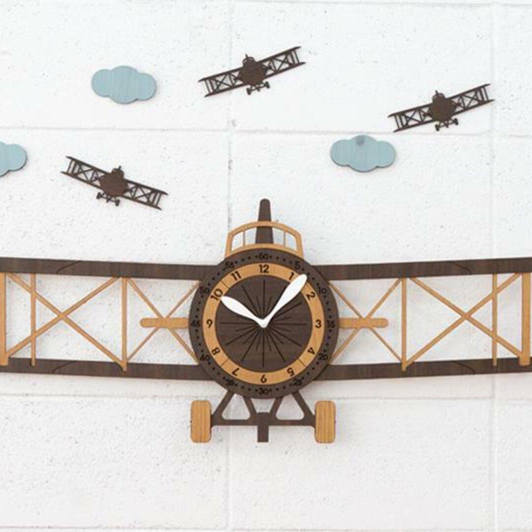 【壁掛け時計 ウォールクロック】 AIRPLANE 飛行機