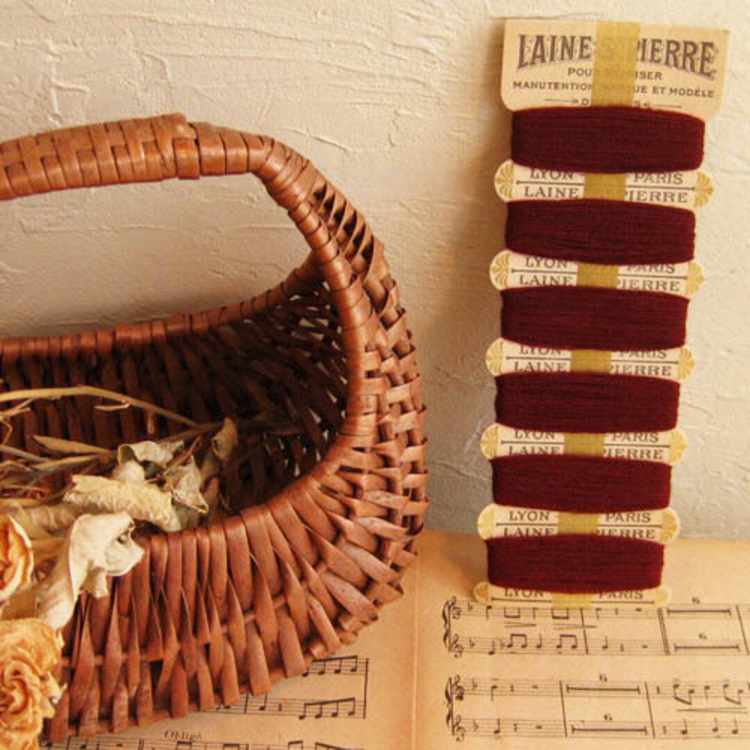 ■フランス laine st pierre ■デッドストック 糸 (シート付) ※ワイン※  [an14-1669-1]