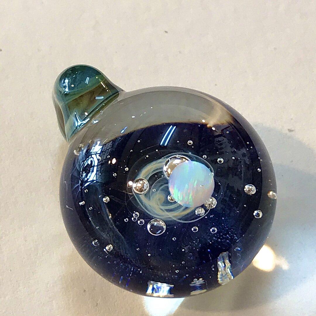 オパール 宇宙ガラスネックレス A 260820