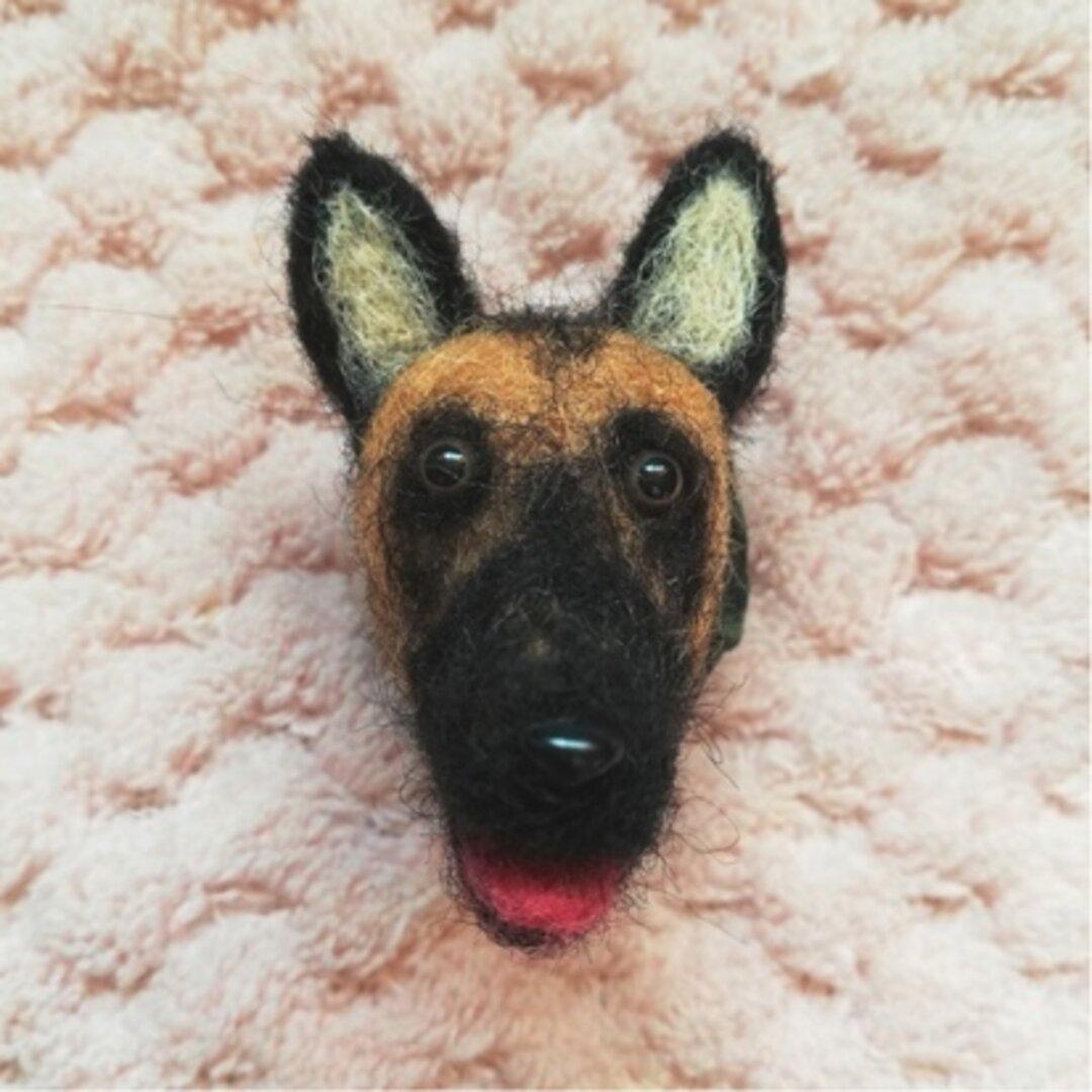 キリリ☆とカッコカワイイ♡羊毛シェパードのマグネット♪犬