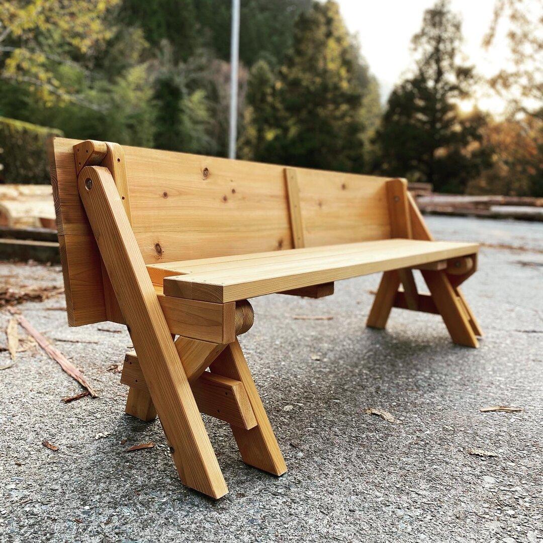 木製ベンチ トランスフォーマーベンチ 天然無垢材 杉