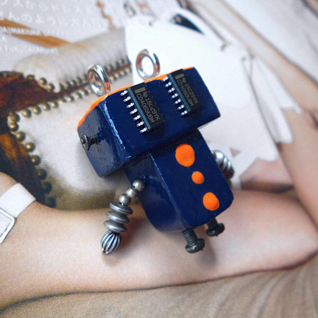 ちびロボ20■ロボット■キーホルダー(又はブローチ)