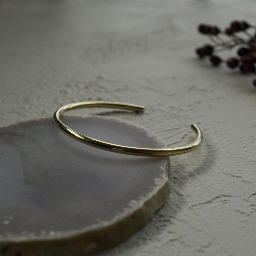 simple bangle 3.0mm (brass)